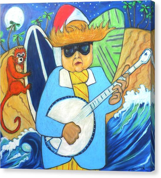 Moonlight Banjo Surfmonkey Canvas Print