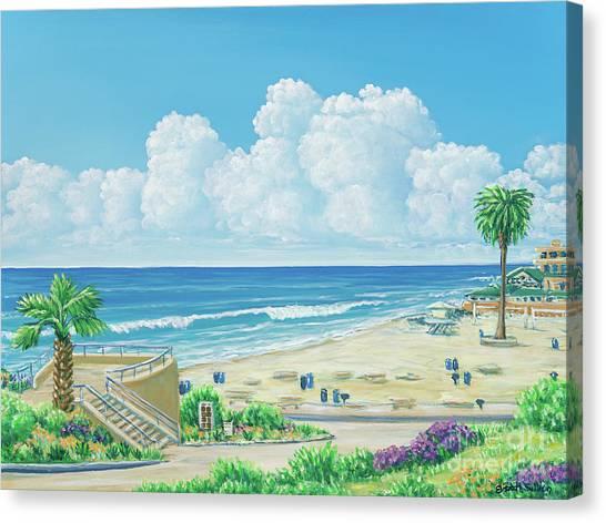 Moonlight Beach Canvas Print