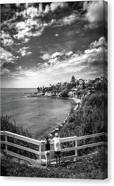 Canvas Print featuring the photograph Moonlight Cove Overlook by T Brian Jones
