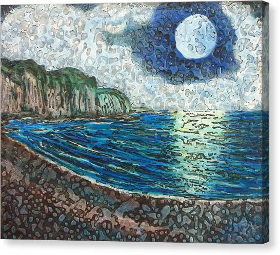 Moonlight In Pourvill Canvas Print