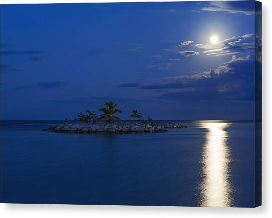 Moonlight Island Canvas Print