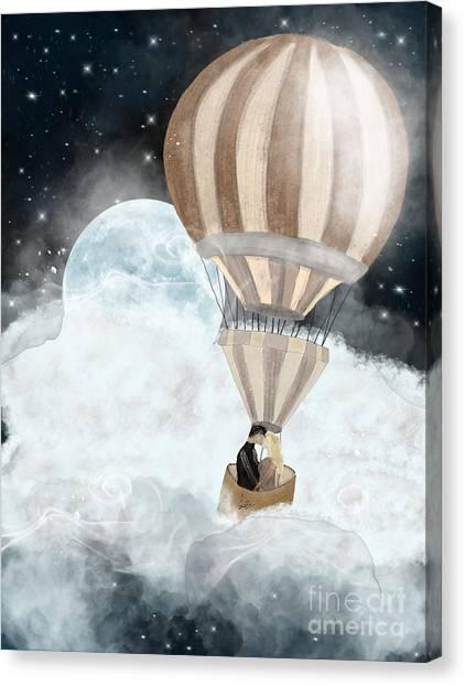 Sex Canvas Print - Moonlight Kisses by Bri Buckley
