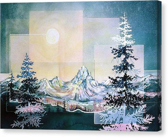 Moonlight Mountain Canvas Print