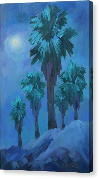 Full Moon Canvas Print - Moonlight Reflections by Diane McClary