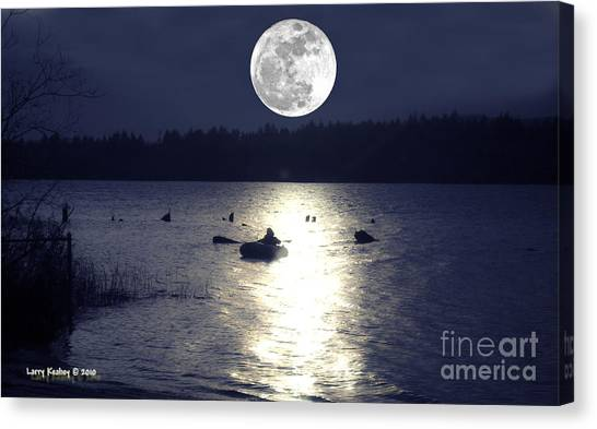 Moonlight Row Canvas Print