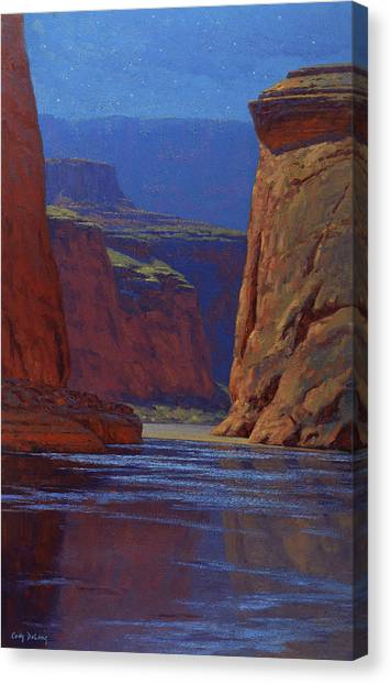 Canyon Canvas Print - Moonlight Serenade by Cody DeLong