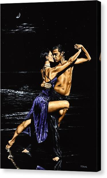 Tango Canvas Print - Moonlight Tango by Richard Young
