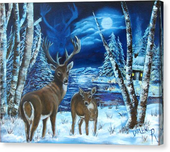 Moonlight Walk Canvas Print by Darlene Green