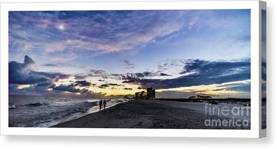 Moonlit Beach Sunset Seascape 0272b1 Canvas Print