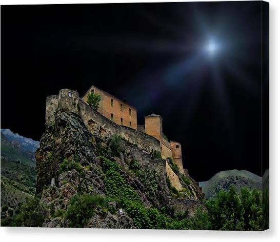 Moonlit Castle Canvas Print