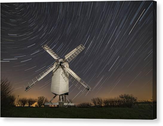 Moonlit Chillenden Windmill Canvas Print