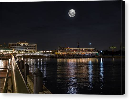 Moonlit Disney Contemporary Resort Canvas Print