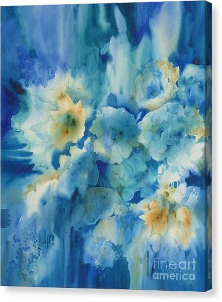 Moonlit Flowers Canvas Print