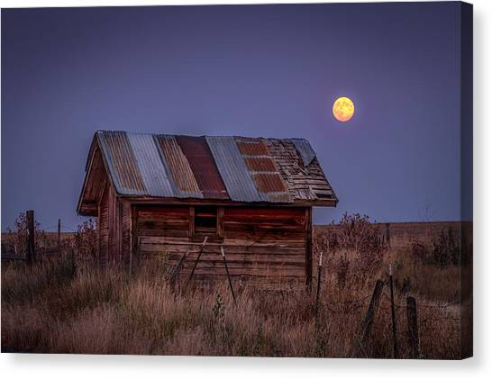 Moonlit Shed Canvas Print