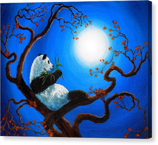 Moonlit Snack Canvas Print