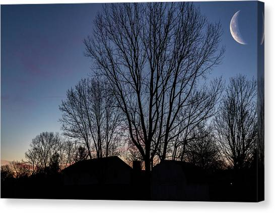 Moonlit Sunrise Canvas Print