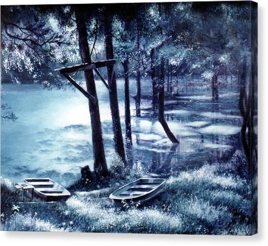 Moonlite On Village Creek Canvas Print