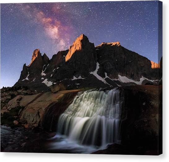 Moonrise At Cirque Of The Towers. Canvas Print