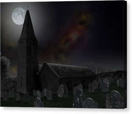 Moonrise At St Germanus Canvas Print