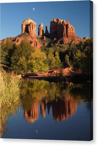 Moonrise Cathedral Rocks Canvas Print