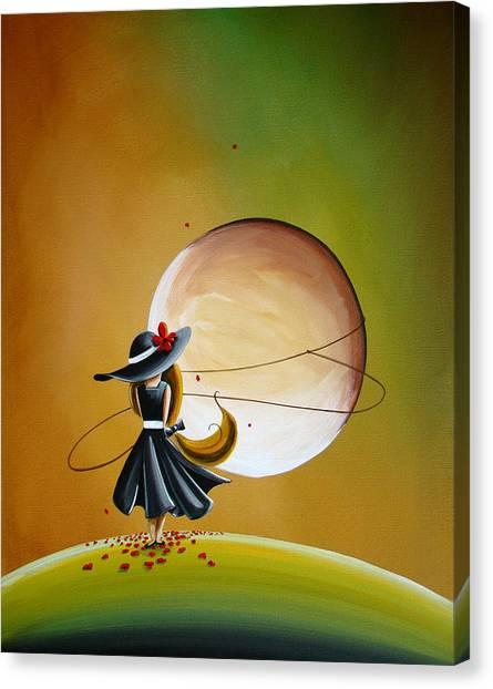 Imagination Canvas Print - Moonrise by Cindy Thornton