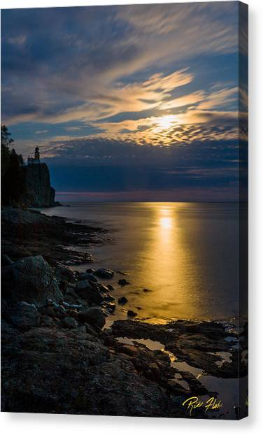 Moonrise From The Cloudbank Canvas Print