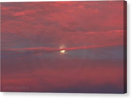 Full Moon Canvas Print - Moonrise by Jerry LoFaro