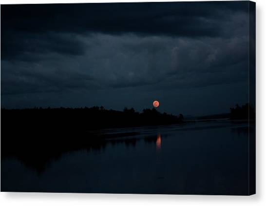 Moonrise Over Blue Hill Bay Canvas Print