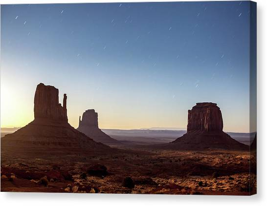 Moonrise Over Monument Valley Canvas Print