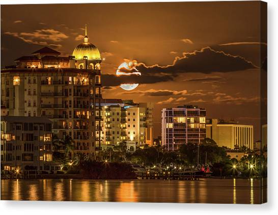 Moonrise Over Sarasota Canvas Print