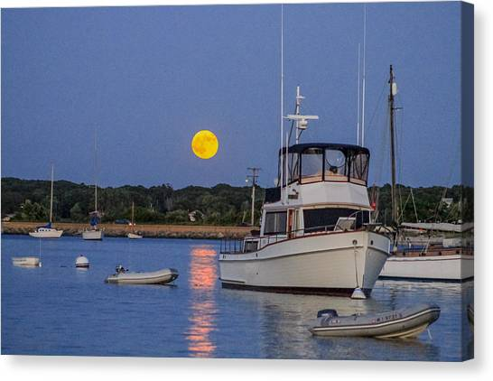 Moonrise Vineyard Haven Canvas Print