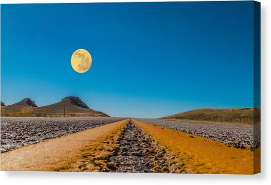 Moonrise Wyoming Canvas Print