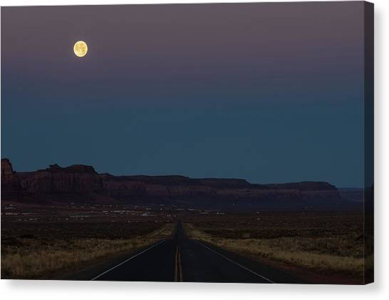 Wolf Moon Canvas Print - Moonset by James Marvin Phelps