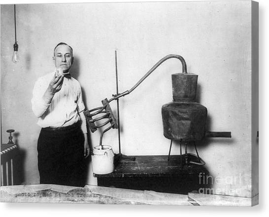 Distillery Canvas Print - Moonshine Distillery, 1920s by Granger