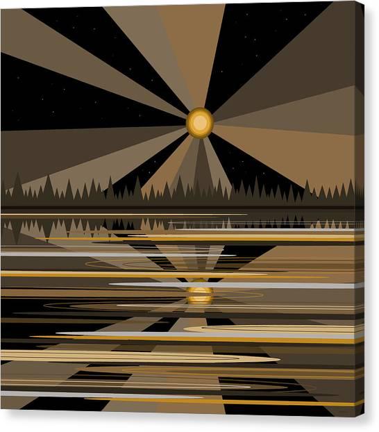 Moonshine Gold Canvas Print