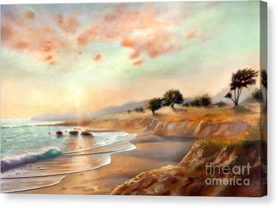 Moonstone Beach California Canvas Print