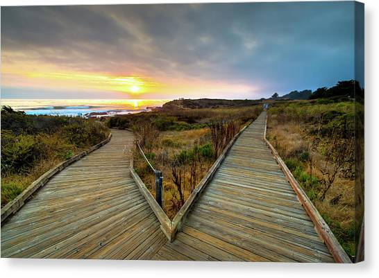 Moonstone Beach Path Canvas Print