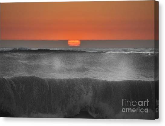 Moonstone Beach Sunset Canvas Print