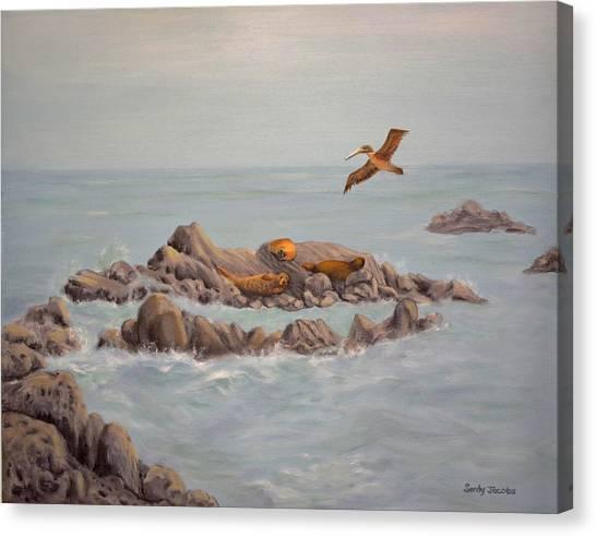 Moonstone Beach Tidepool Canvas Print