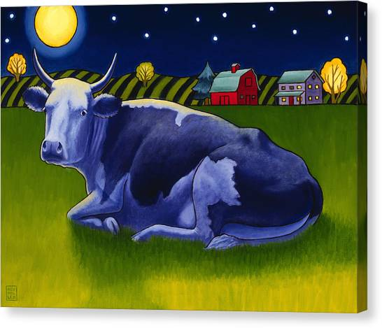 Full Moon Canvas Print - Mooonlight by Stacey Neumiller