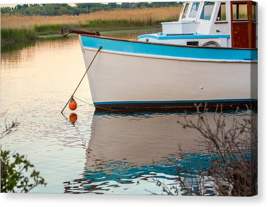 Moored Boat 2 Canvas Print