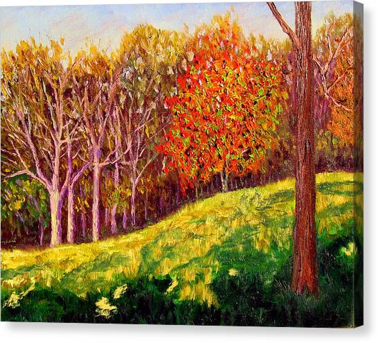 Mooresville October Canvas Print by Stan Hamilton