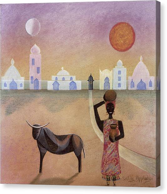 Moorish Ox Canvas Print by Sally Appleby