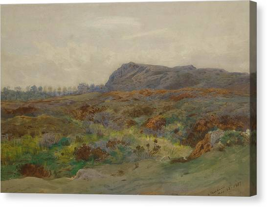 Moorland Canvas Print - Moorland Landscape By Thorburn by Archibald Thorburn