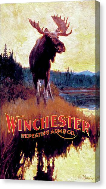 Moose Against Skyline Canvas Print