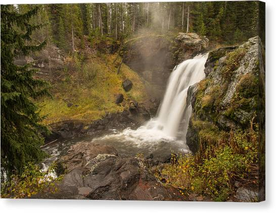 Canvas Print featuring the photograph Moose Falls by Gary Lengyel
