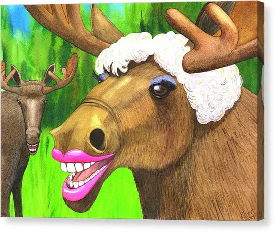 Moose Lips Canvas Print