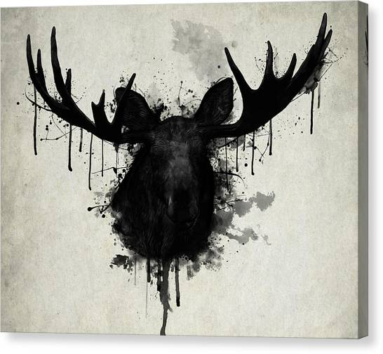 Bulls Canvas Print - Moose by Nicklas Gustafsson