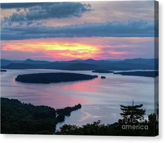 Mooselookmeguntic Lake In The Last Light Of Day - Rangeley Me  -63430 Canvas Print