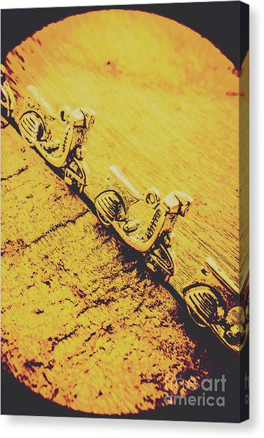 Scoot Canvas Print - Moped Parking Lot by Jorgo Photography - Wall Art Gallery